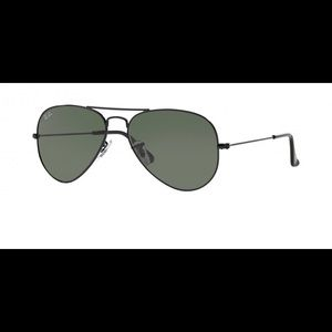 New Ray-Ban RB 3025 W3235 Black Aviator Sunglasses